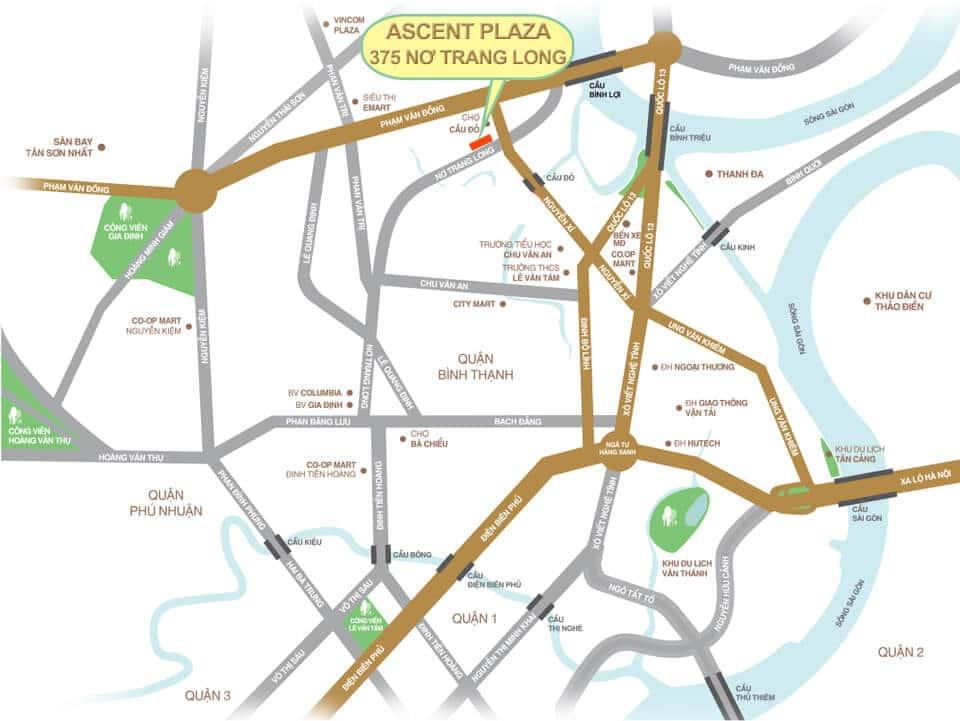 Vị Trí Dự Án Ascent Plaza và Quy Hoạch Hạ Tầng quận Bình Thạnh